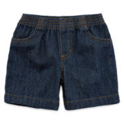 Okie Dokie® Pull-On Denim Shorts - Boys newborn-24m