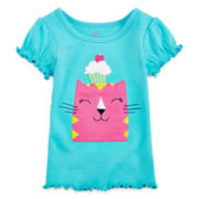 Okie Dokie® Short-Sleeve Embroidered Tee – Girls 12m-24m