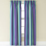 Rainbow Ombré Rod-Pocket Tailored Curtain Panel