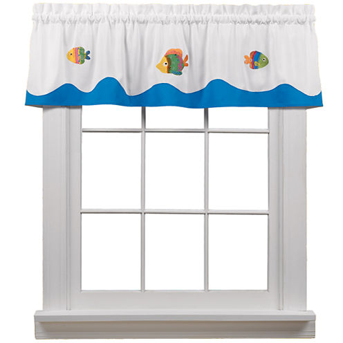 Tie Dye Sea Rod-Pocket Valance