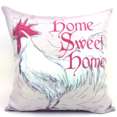 jcpenney.com | Home Sweet Home Rooster Decorative Pillow