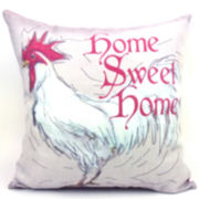 Home Sweet Home Rooster Decorative Pillow