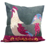 Country Rooster Decorative Pillow