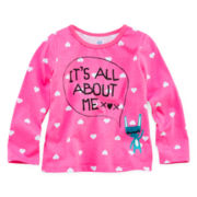 Okie Dokie® Long-Sleeve Graphic Knit Tee - Girls 2t-6