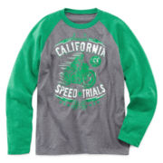 Arizona Long-Sleeve Graphic Raglan Knit Tee – Boys S-XL