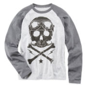 Arizona Long-Sleeve Graphic Raglan Knit Tee – Boys S-XL