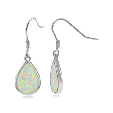 jcpenney.com | Lab-Created Opal Sterling Silver Drop Earrings