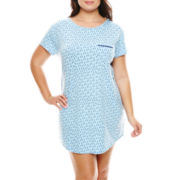Liz Claiborne® Short-Sleeve Nightshirt - Plus