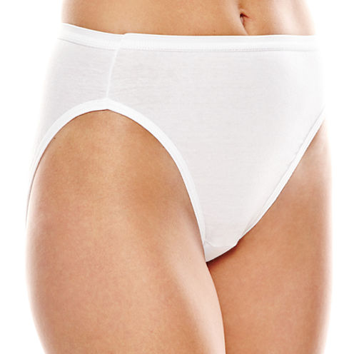 Hanes® 4-pk. Ultimate Cotton Hi-Cut Panties - 43KU