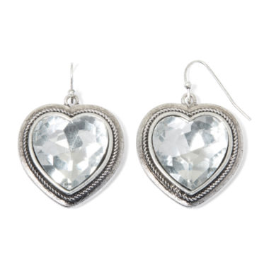 jcpenney.com | Aris by Treska Large Heart Drop Earrings