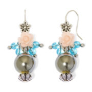 Aris by Treska Rose Bead Drop Earrings