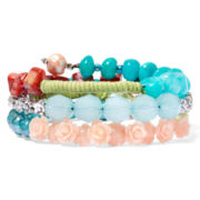 Aris by Treska Multicolor Bead Coil Wrap Bracelet