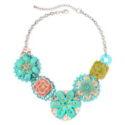 Aris by Treska Flower Bib Statement Necklace
