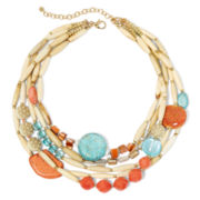 Aris by Treska Gold-Tone Multi-Row Statement Necklace