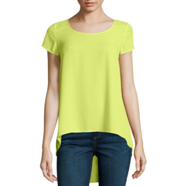 jcpenney.com | Decree® Short-Sleeve Pintuck-Back T-Shirt