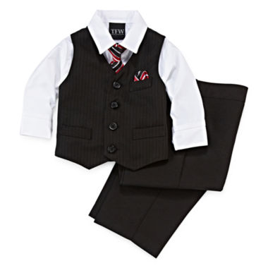 jcpenney.com | 4-pc Stripped Vest Set - Baby Boys 3m-24m