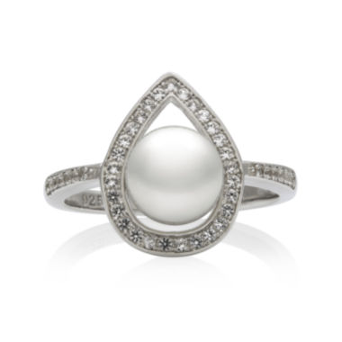 jcpenney.com | Sterling Silver Cultured Freshwater Pearl & Lab-Created White Sapphire Ring