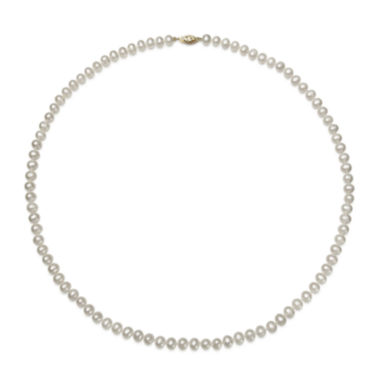 jcpenney.com | 14K Yellow Gold Akoya Pearl Necklace 24""