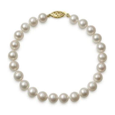 jcpenney.com | 14K Yellow Gold Genuine Akoya Pearl Bracelet