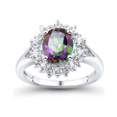 jcpenney.com | Genuine Mystic Fire Topaz and Lab-Created White Sapphire Ring