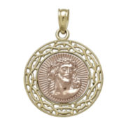 Tesoro™ 14K Two-Tone Gold Jesus Medallion Pendant