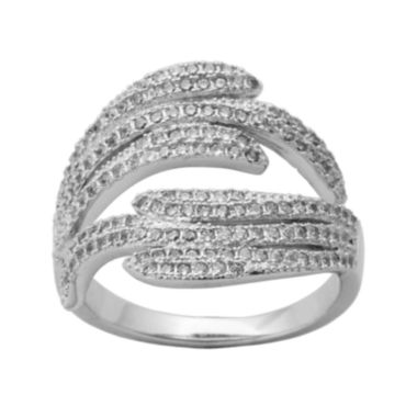 jcpenney.com | Cubic Zirconia Sterling Silver Crossover Ring