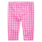 Okie Dokie® Gingham Capri Leggings - Toddler Girls 2t-5t