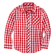 Arizona Long-Sleeve Woven Plaid Shirt – Boys 4-7