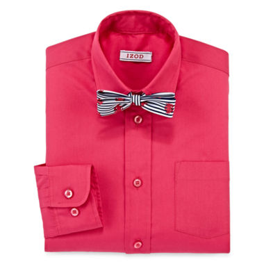 jcpenney.com | IZOD® Dress Shirt and Bow Tie Set - Boys 8-20
