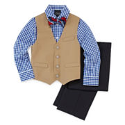 4-pc Twill Vest Set -  Boys 4-10