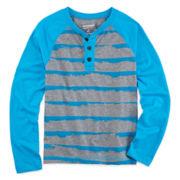 Arizona Long-Sleeve Striped Henley Shirt - Boys 8-20