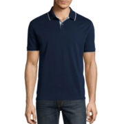 Claiborne® Interlock Solid Polo