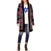 Arizona Brushed Plaid Duster, Tunic Sweater or Skinny Jeans