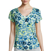 Liz Claiborne® Short-Sleeve Print Knit T-Shirt
