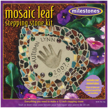 jcpenney.com | Milestones Mosaic Leaf Stepping Stone Kit