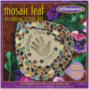 Milestones Mosaic Leaf Stepping Stone Kit