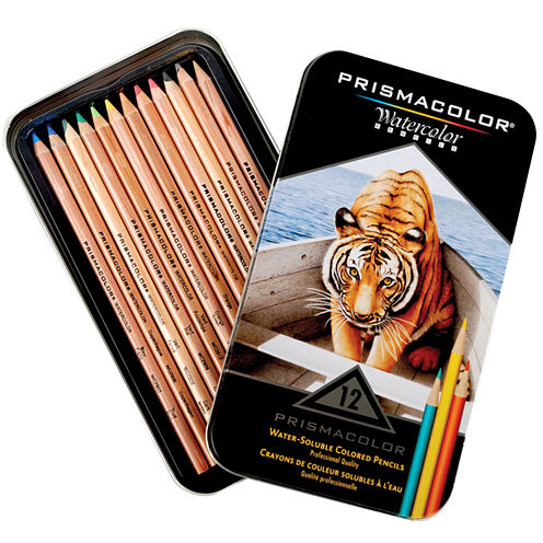 Prismacolor Watercolor Pencil Set 12 Per Tin