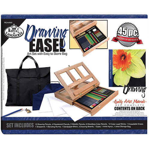 Easel Drawing Art Set With Easy To Store Bag
