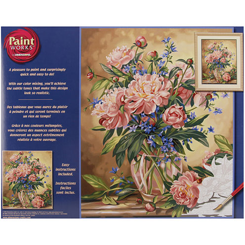 """Paint By Number Kit 16""""X20""""- Peony Floral"""