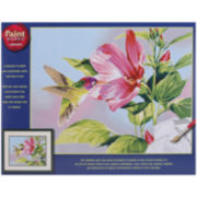 "Paint By Number Kit 14x11""- Hibiscus Hummingbird"