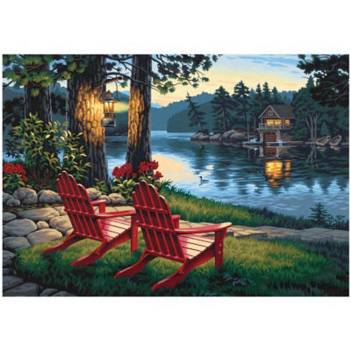 "Paint By Number Kit 20X14""- Adirondack Evening"
