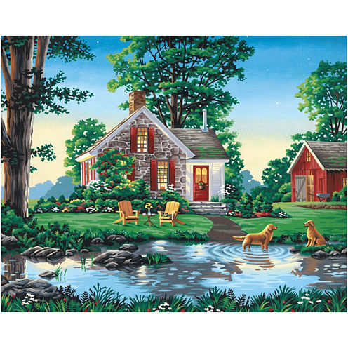 "Paint By Number Kit 20X16""- Summer Cottage"