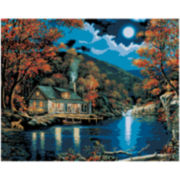 "Paint by Number Kit – 16x20"" Lakeside Cabin"