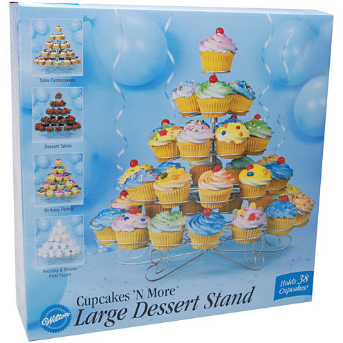 Cupcakes 'N More Large Dessert Stand-Holds 38 Cupcakes