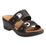 Clarks® Lexi Willow Leather Slide Sandals