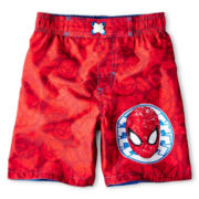 Spiderman Swim Trunks - Boys 12m-6y
