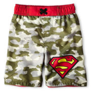 Superman Camo Swim Trunks - Boys 12m-6y