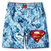 Classic Superman Swim Trunks - Boys 12m-6y