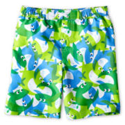 Baby Buns Fish Board Shorts - Boys 12m-6y