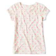 Arizona Fave Pink Dot Tee - Girls 6-16 and Plus